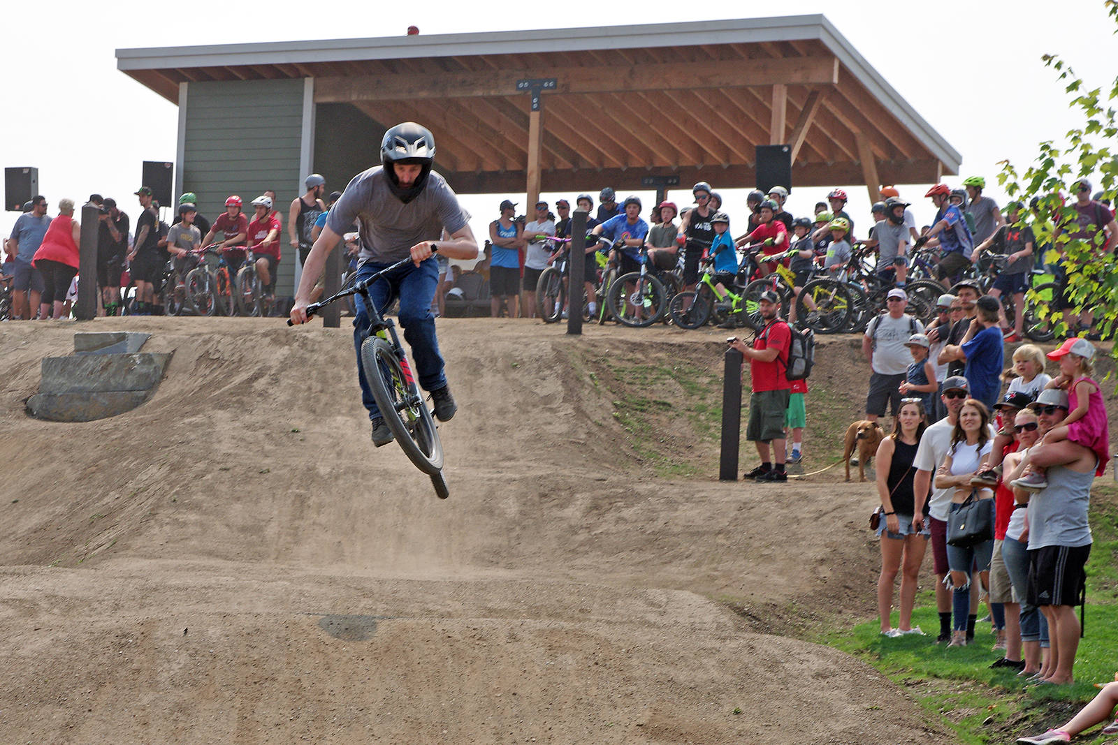 Hundreds attend opening of Steve Smith Bike Park in Nanaimo.