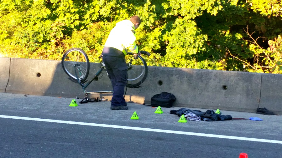 NANAIMO — A cyclist was airlifted to hospital early Friday morning after a crash on the Nanaimo Parkway north of the Jinglepot intersection. RCMP Cst. Gary O'Brien confirmed the crash happened just before 6 a.m.